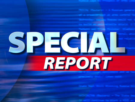 'Special Report' superimposed on a blue background