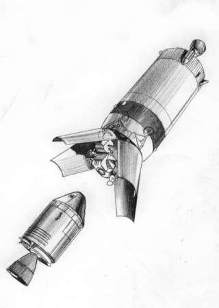 Apollo 11 rocket stage panels