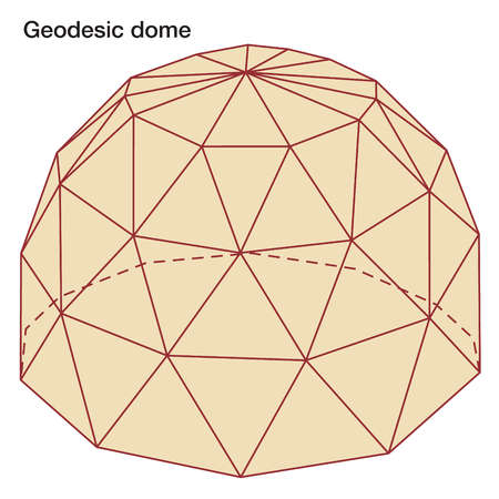 Stock illustration geodesic dome for Geodesic dome template