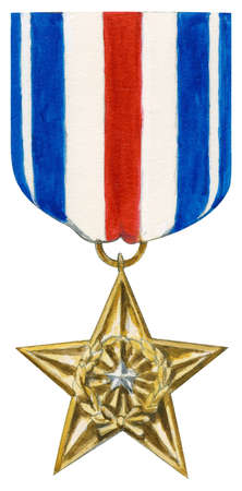 The Silver Star is awarded to a member of the US Armed Forces for gallantry in action against an enemy of the United States