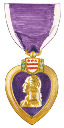 The Purple Heart is currently awarded to those wounded or killed (awarded posthumously) in the service of the United States