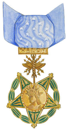 The Medal of Honor, the foremost US military decoration; the Air Force medal was first awarded in 1950