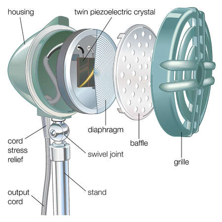 Cross section of a crystal microphone