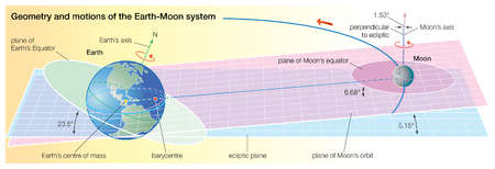 Although the Moon is often described as orbiting Earth, the two orbit each other about a common center of mass, the barycentre