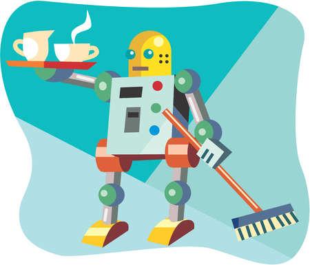 Robot serving tea
