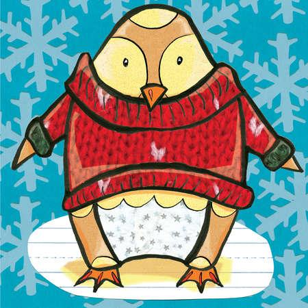 Penguin wearing sweater