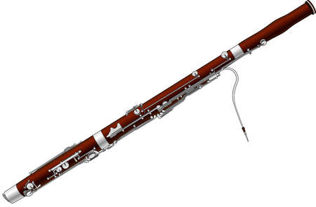 Woodwind family instruments woodwind family - Stock Illustration Bassoon