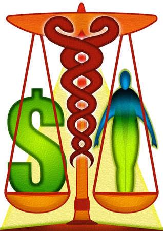 Healthcare caduceus scale
