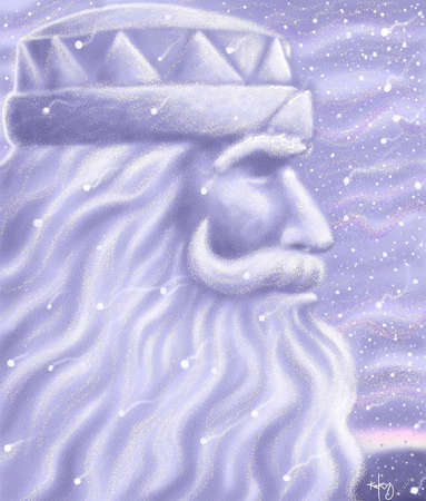 King Boreas, who presides over St. Paul, Minn., winter carnival