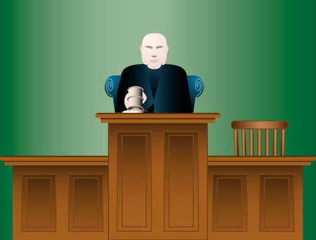 Judge pounding his gavel
