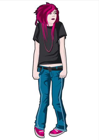 Teenage girl shrugging
