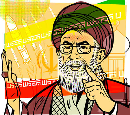 Ayatolla ali Khamenei in turban