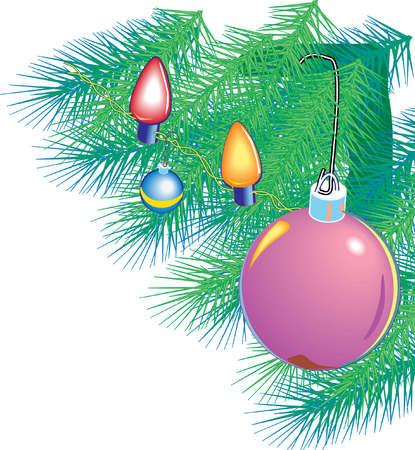 Bulbs on a Christmas tree