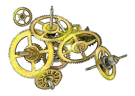 Illustration of cogs