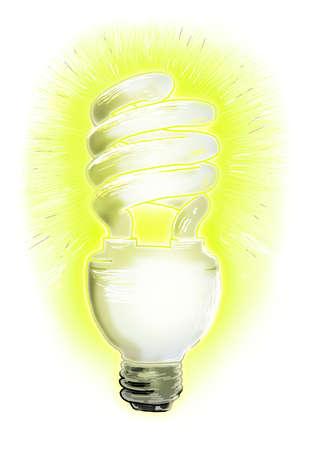 Bright compact fluorescent light bulb