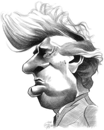 Caricature of former Bosnian Serb leader Radovan Karadzic