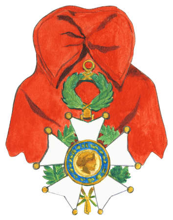 The Legion of Honor, a French order established by Napoleon Bonaparte, is the highest decoration in France and is divided into five various degrees: Chevalier (Knight), Officier (Officer), Commandeur (Commander), Grand Officier (Grand Officer) and Grand'Croix (Grand Cross)