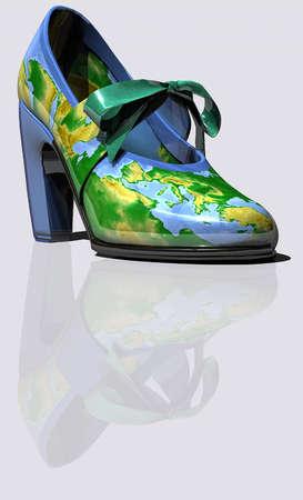 Illustration of colorful shoe