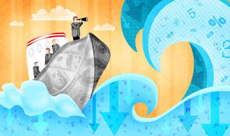 Businessmen sailing thru rough economic period