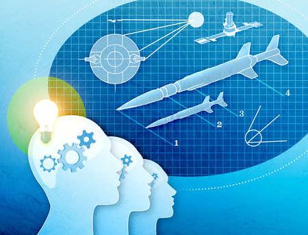 Scientists brains at work