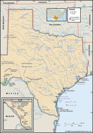 Map Of Texas Mountains
