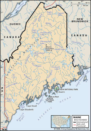 Quebec State Physical Map on