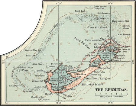 Map of the Bermudas, circa 1902, from the 10th edition of Encyclopaedia Britannica.