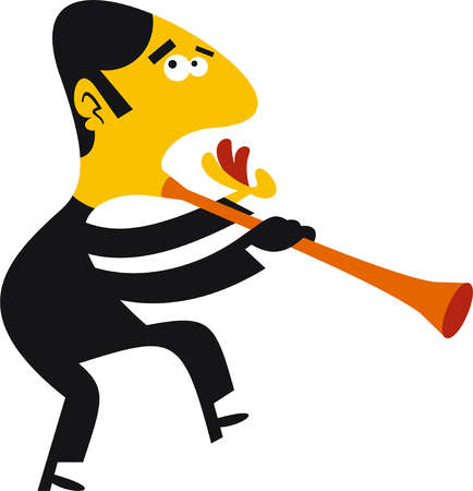 Man with clarinet mouth