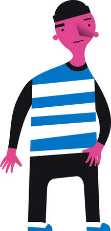 Boy wearing striped shirt