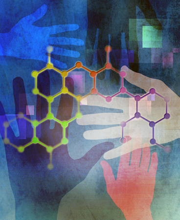 Hands Behind DNA Honeycomb Lattice