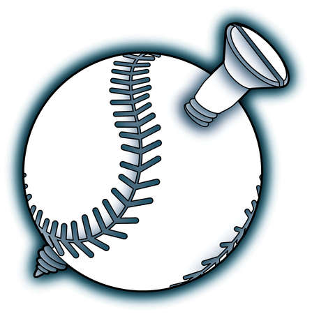 Screw piercing baseball