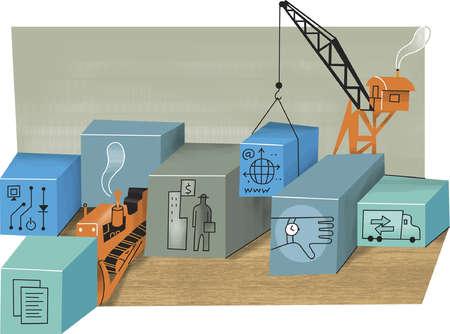 Crane lowering technology cube
