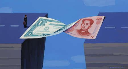 Dollar and Yuan Forming a Bridge