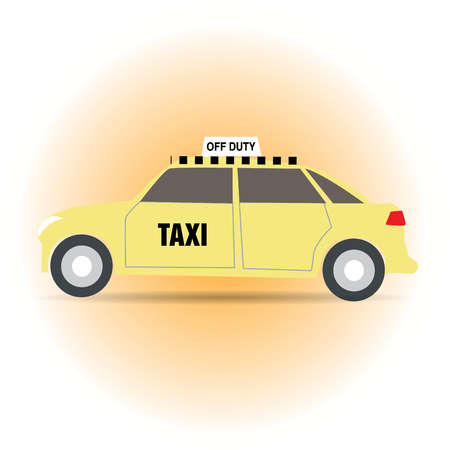 Taxi cab with Off Duty sign illuminated