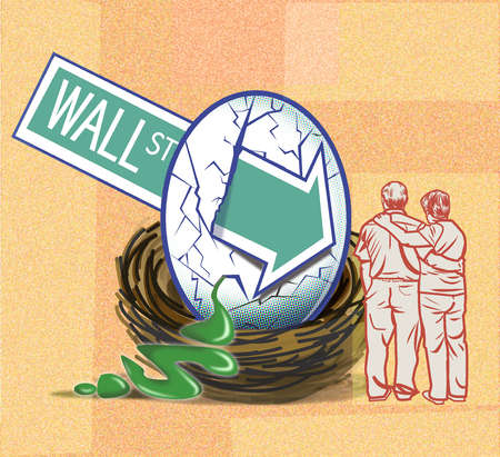 Wall Street arrow crashing into couple's nest egg