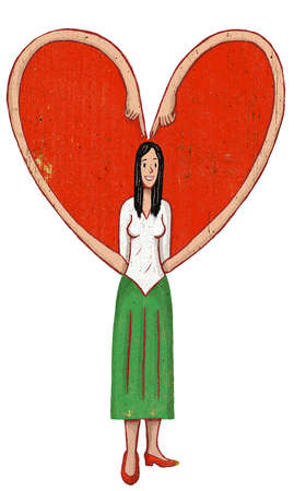 Woman's arms forming heart-shape