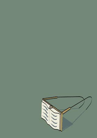 Book eyeglasses