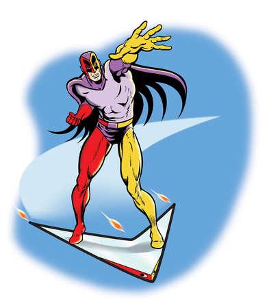 Superhero riding glider