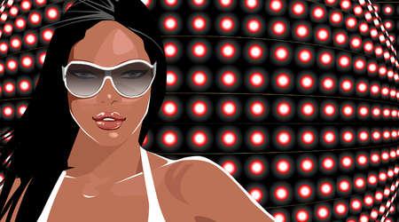 Portrait of confident woman wearing sunglasses