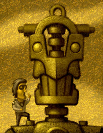 Man and Nice Robot
