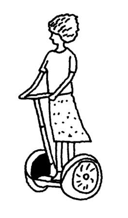 Woman riding segway