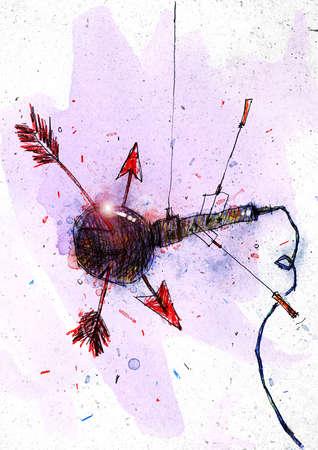 Arrows piercing microphone