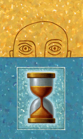 That Sinking Feeling Man and Hourglass