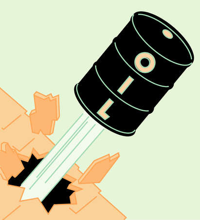 Oil barrel shooting through roof