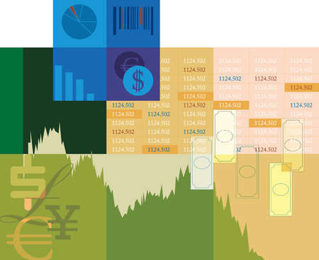 Montage of stock market information