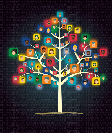 networking tree showing human connection