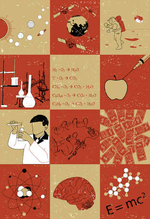 Illustrative representations of various streams of science