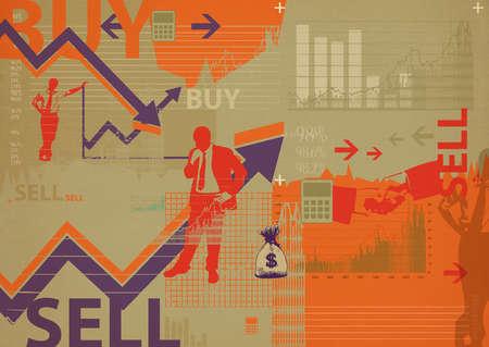 Illustrative representation showing online share trading
