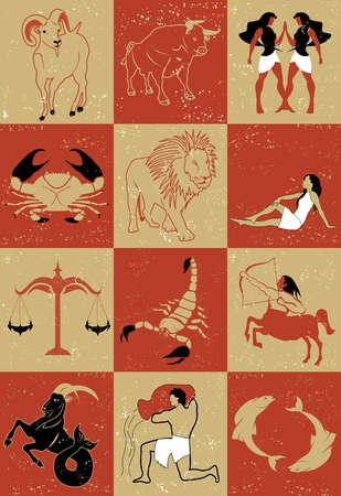 Twelve signs of zodiac