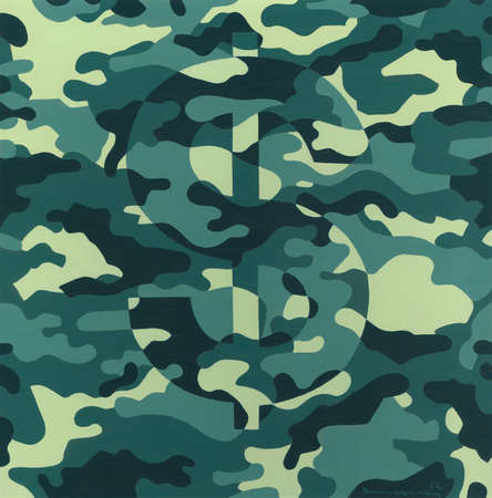 Dollar sign disguised in Camouflage
